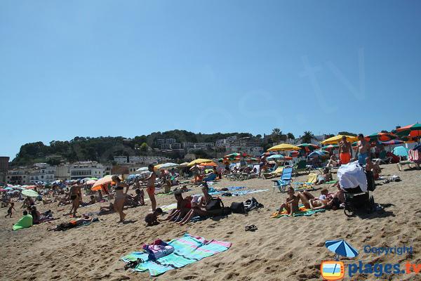 Private beach in Tossa de Mar