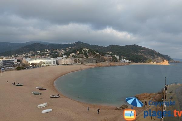 Photo of Tossa de Mar beach in winter