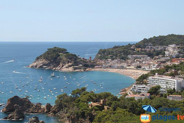 Photo de la plage de Tossa de Mar en Espagne