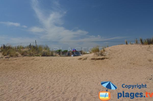 Accès à la plage de Grau Pla à Malgrat de Mar