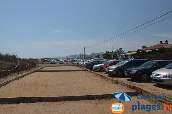 Parking de la plage de Grau Pla à Malgrat de Mar