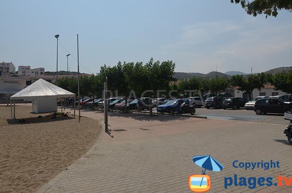 Parking de la plage de Grifeu - Llança