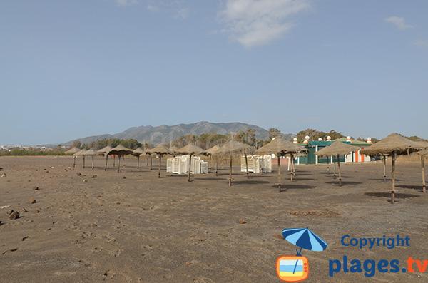 Plage privée sur la plage de Guadalmar à Malaga
