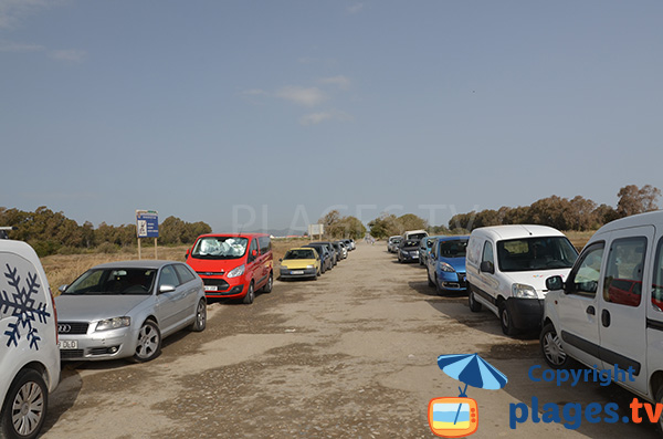 Parking de la plage de Guadalmar à Malaga