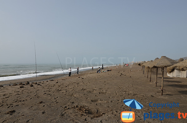 Photo de la plage de Guadalmar à Malaga
