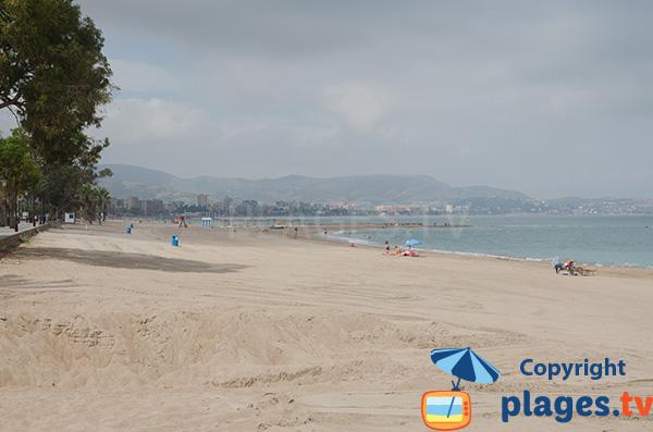 Photo de la plage au sud de Benicassim à la limite de Castellon - Espagne