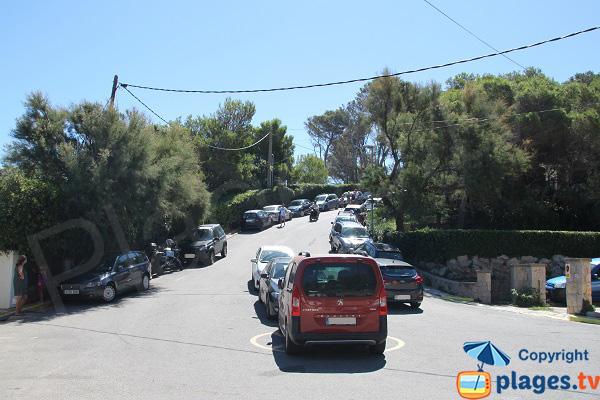Parking de la plage Illa Roja à Begur