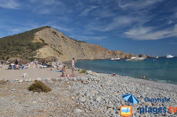 Plage privée sur la plage Jondal à Ibiza