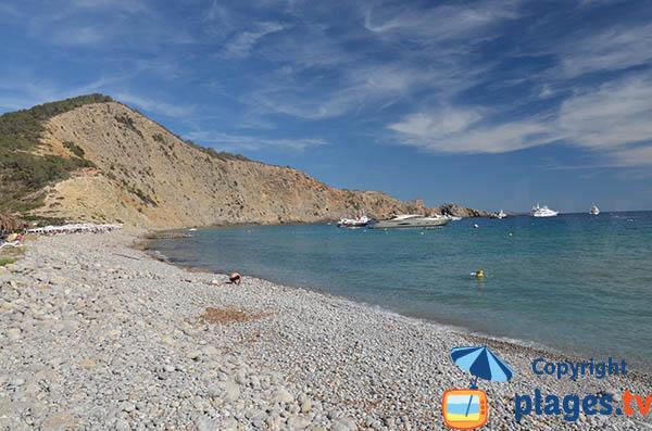 Photo de la plage de Jondal à Ibiza