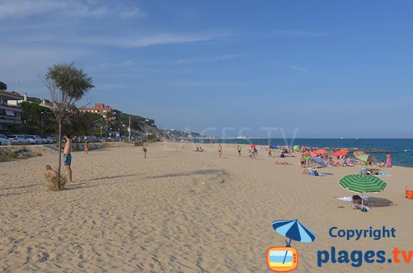 Photo de la plage de Kalima à Caldes d'Estrac - Espagne