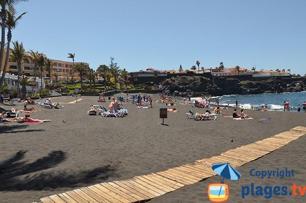 Photo de la plage de la Arena à Tenerife