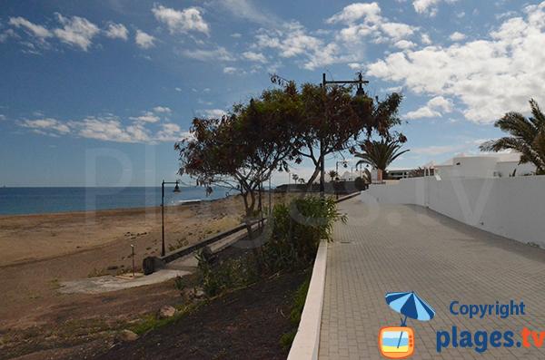 Pedestrian promenade along La Concha beach in Lanzarote