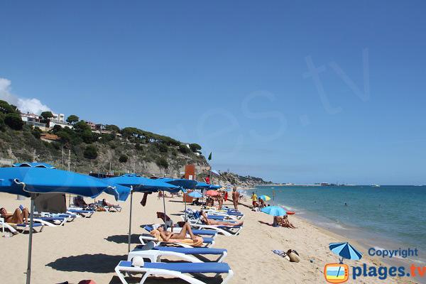 Plage naturiste d'Arenys de Mar en Espagne