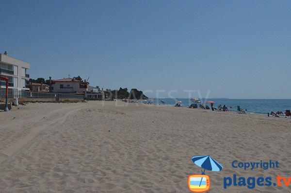 Plage de la Riviera à Mont Roig del Camp au sud de Cambrils