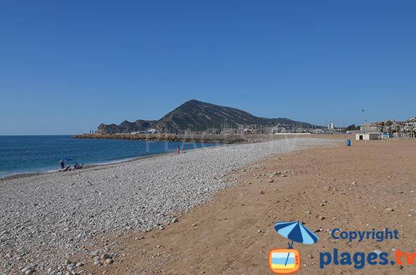 Plage La Roda à Altea côté port - Espagne