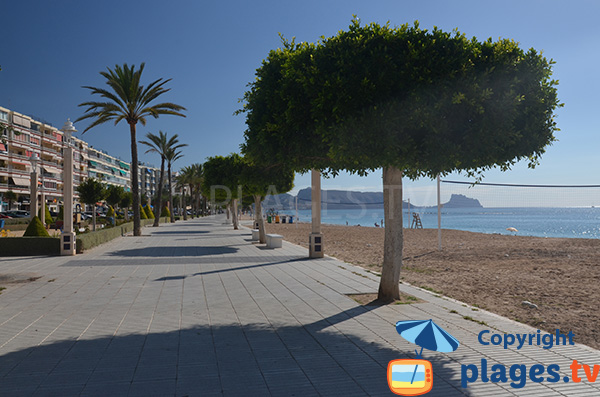 Promenade le long de la plage Roda à Altea
