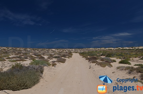 Accès à la plage nord de La Graciosa à Lanzarote