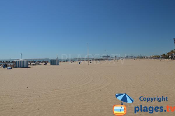 Grande plage de Valence