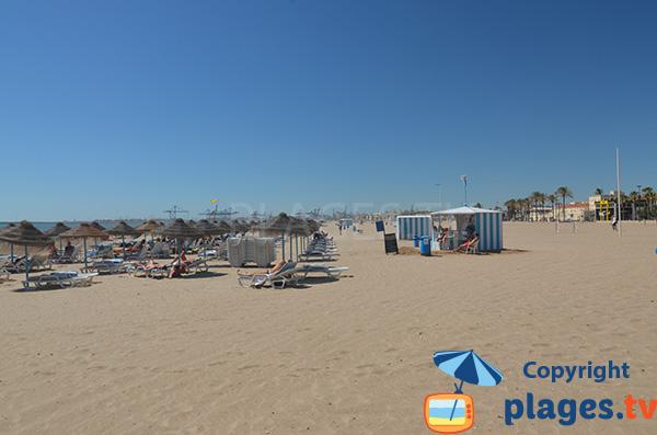 Location de matelas sur la plage de Valence