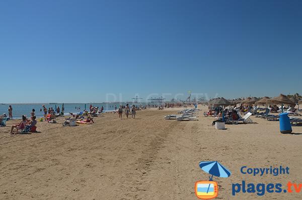 Plage de sable fin à Valence