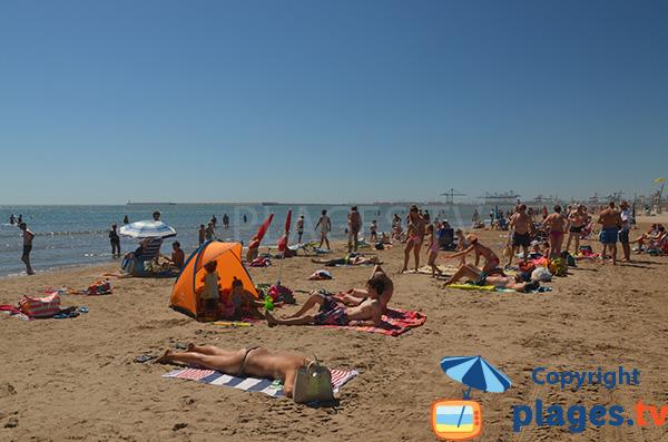 Fréquentation de la plage de Valence