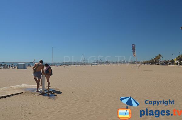 Photo de la plage de Las Arenas à Valence en Espagne