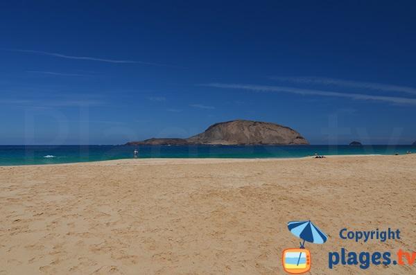 islet of Montana Clara in Lanzarote