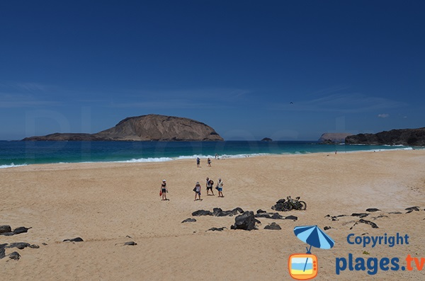 Wild beach in Lanzarote La Graciosa