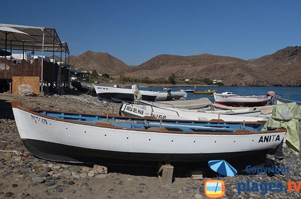 Restaurants et bateaux à Las Negras