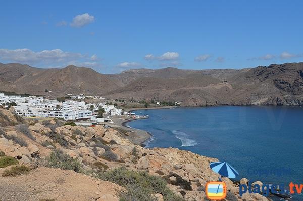 Photo de la plage de Las Negras en Andalousie - Espagne