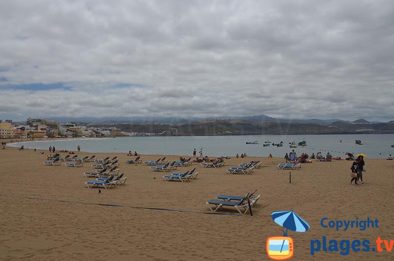 Grande plage du centre de Las Palmas