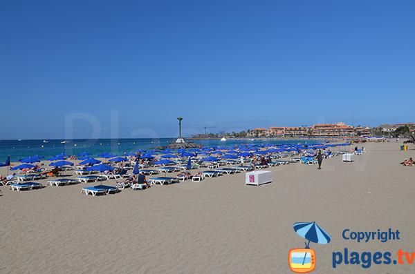 Plage de Las Vistas à Los Cristianos à Tenerife - Espagne - Iles Canarie