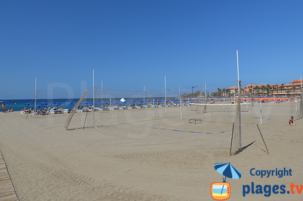 Beach Volley à Los Cristianos - Canarie