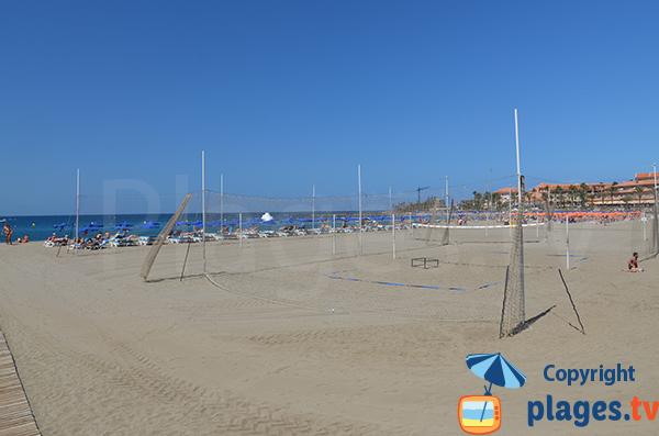 Beach Volley à Los Cristianos - Canarie