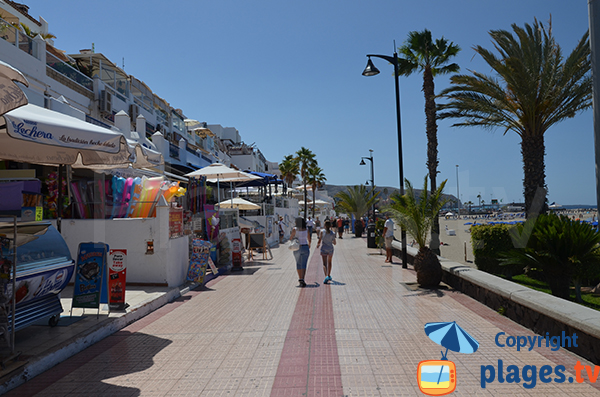 Commerces et restaurants en front de mer de Los Cristianos - Tenerife