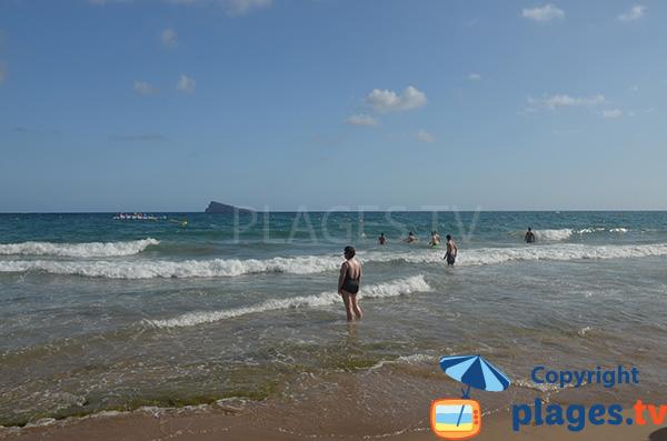 Baignade sur la plage de Benidorm