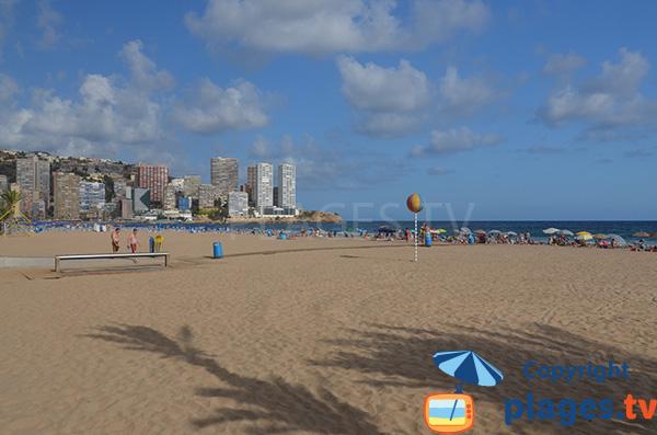 Photo de la plage du Levante à Bénidorm en Espagne