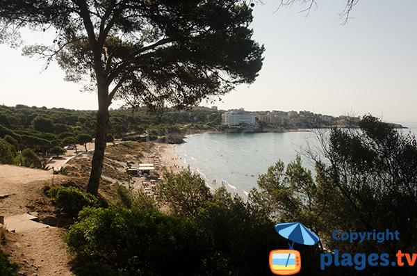 Photo de la plage de Llarga à Salou en Espagne