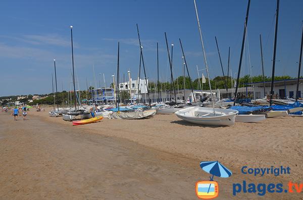 Nautical center of Llarga beach in Tarragona