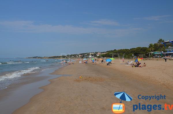 Photo de la plage de Llarga à Tarragone - Espagne