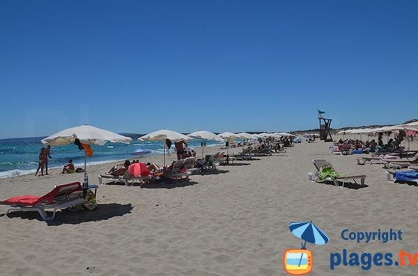 Plage surveillée du Llevant à Formentera