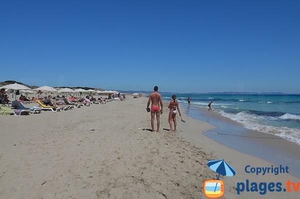 Llevant à Formentera - Baignade