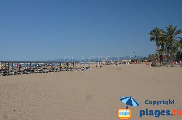Grande plage de Salou