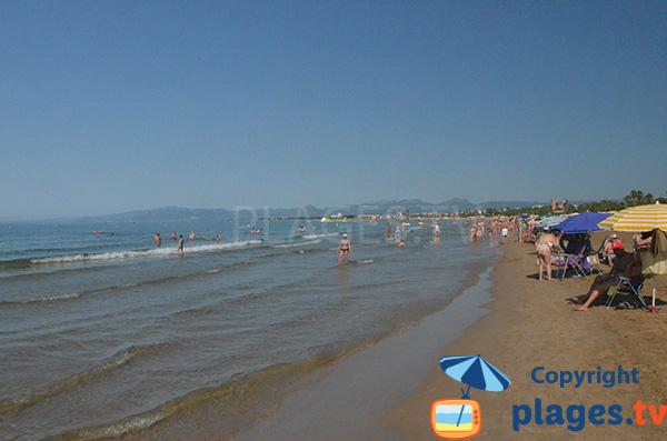 Baignade sur la plage de Salou