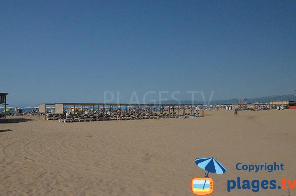 Photo de la plage du centre ville de Salou