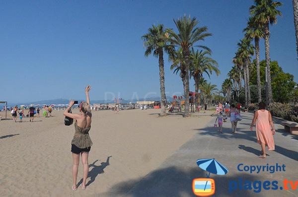 Photo de la plage du Llevant à Salou en Espagne