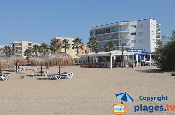 Chiringuito sur la plage de Llosa - Cambrils