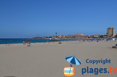 Beach of Los Cristianos in Tenerife