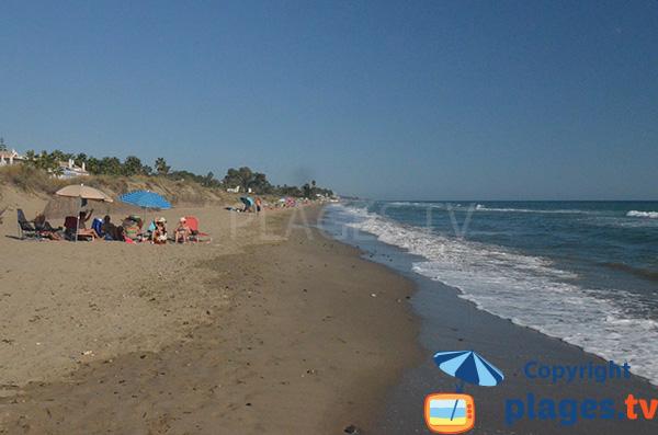Photo de la plage de Los Monteros à la Bahia de Marbella - Andalousie