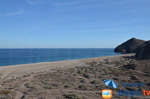 Plage Los Muertos en Andalousie - Espagne - Cabo de Gata
